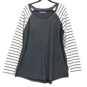 Maurices gray raglan long sleeve sweatshirt 8718